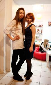 Катя Павлова и Рина Тихомирова